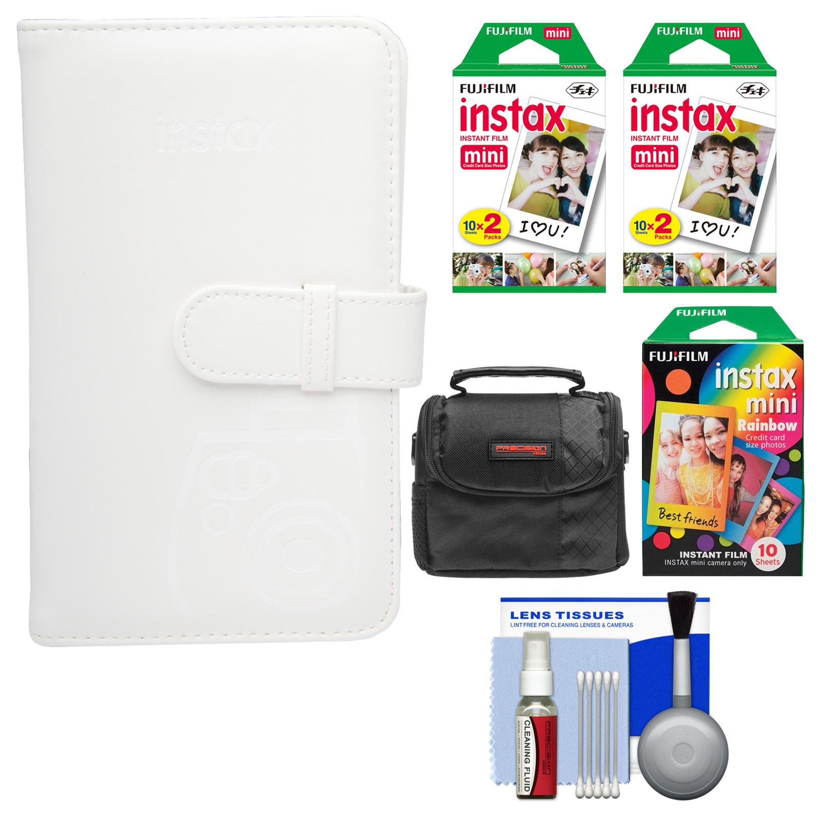 FujiFilm Instax Mini Wallet 108 Photo Album (White) with 40 Color Prints & 10 Rainbow Prints + Case + Kit for... by Fujifilm