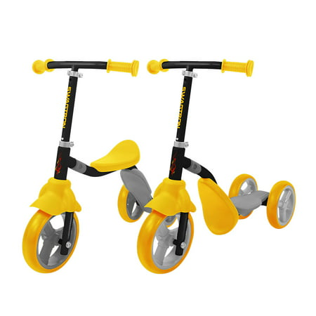 K2 Toddler 3 Wheel Scooter & Ride-On Balance Trike 2-in-1 Adjustable for 2, 3, 4, 5 Year Old Kids Boy or Girl Transforms In Seconds