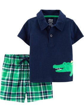 cd362f51a Product Image Child of Mine Short Sleeve Polo Shirt and Shorts, 2 pc set  (Toddler Boys