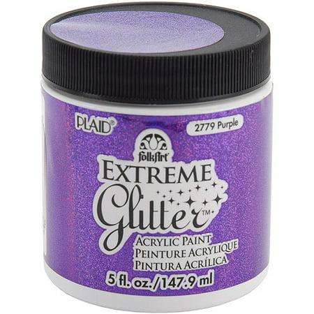 Plaid Enterprises Folk Art Extreme 5 Oz Purple Glitter Paint