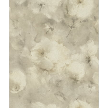 - Advantage Innocent Beige Watercolor Floral Wallpaper