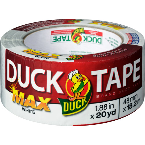 "Duck Brand Duct Tape, Max Strength 1.88"" x 20 yds, White"