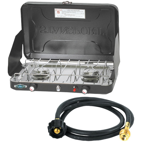 Stansport Compact Propane Stove With 10' Connection Hose