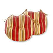 Greendale Home Fashions Roma Stripe 15'' Outdoor Bistro Chair Cushion, Set of 2