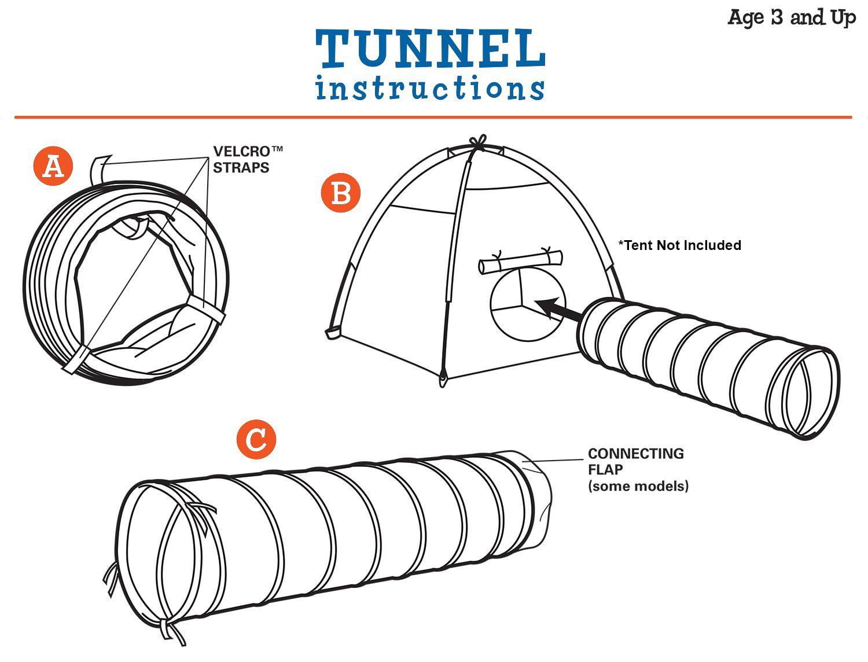 Pacific Play Tents Kids Galaxy 6 Foot Crawl Tunnel w//Glow in the Dark Stars