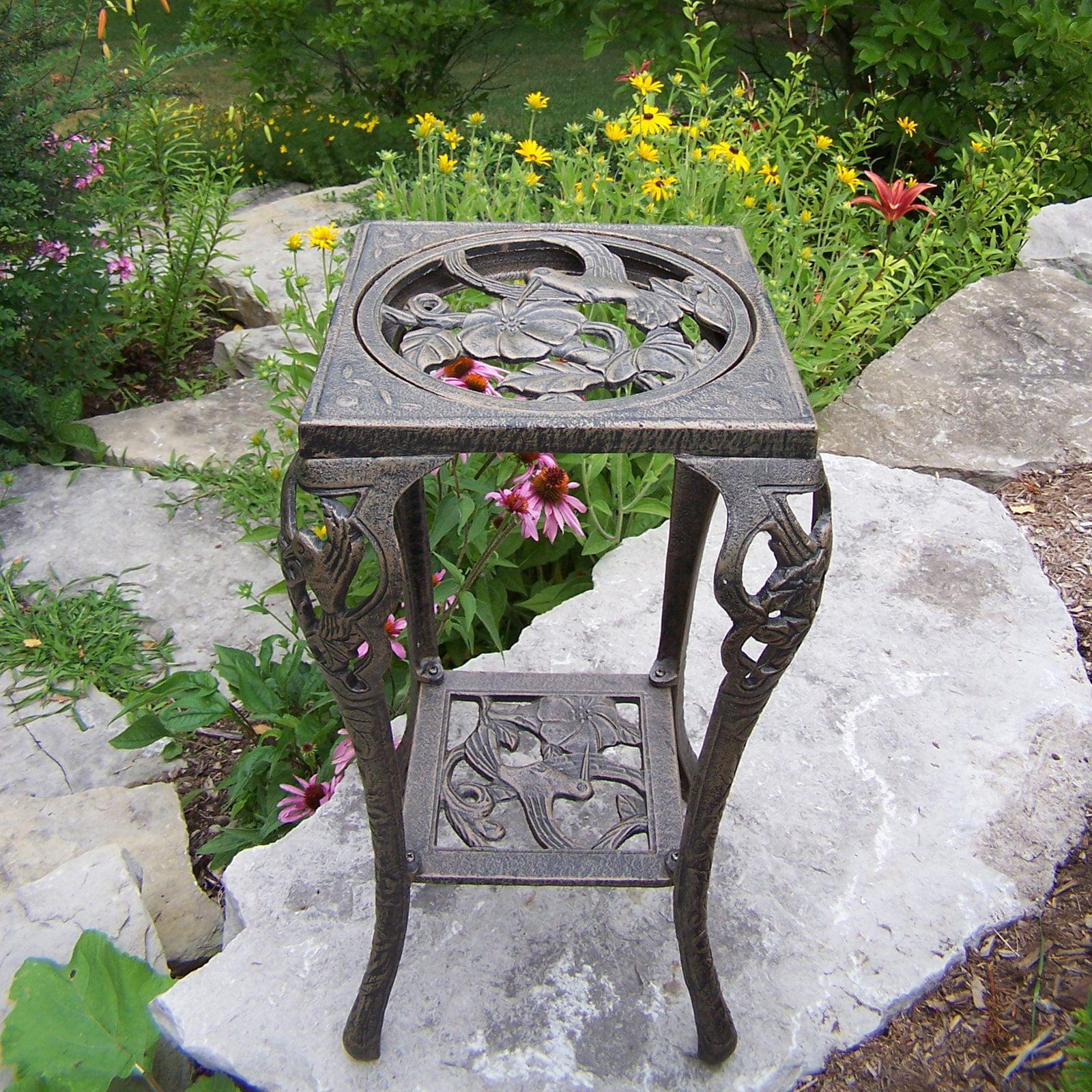 Oakland Living Hummingbird Plant Stand - Antique Bronze