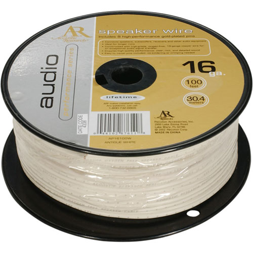 Acoustic Research 16-Gauge Speaker Wire White, 100 Feet by Acoustic Research