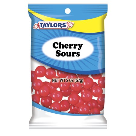 Taylors Candy 2 oz Cherry Sours Candies, 24 Count