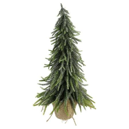 Northlight Weeping Mini Pine Christmas Tree In Burlap Cove Vase