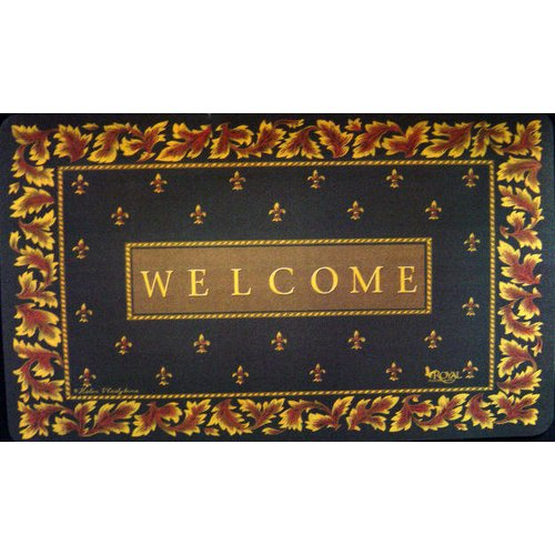 ... Custom Printed Rugs Regal Fleur De Lis Doormat