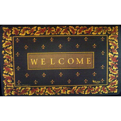 Custom Printed Rugs Regal Fleur De Lis Doormat