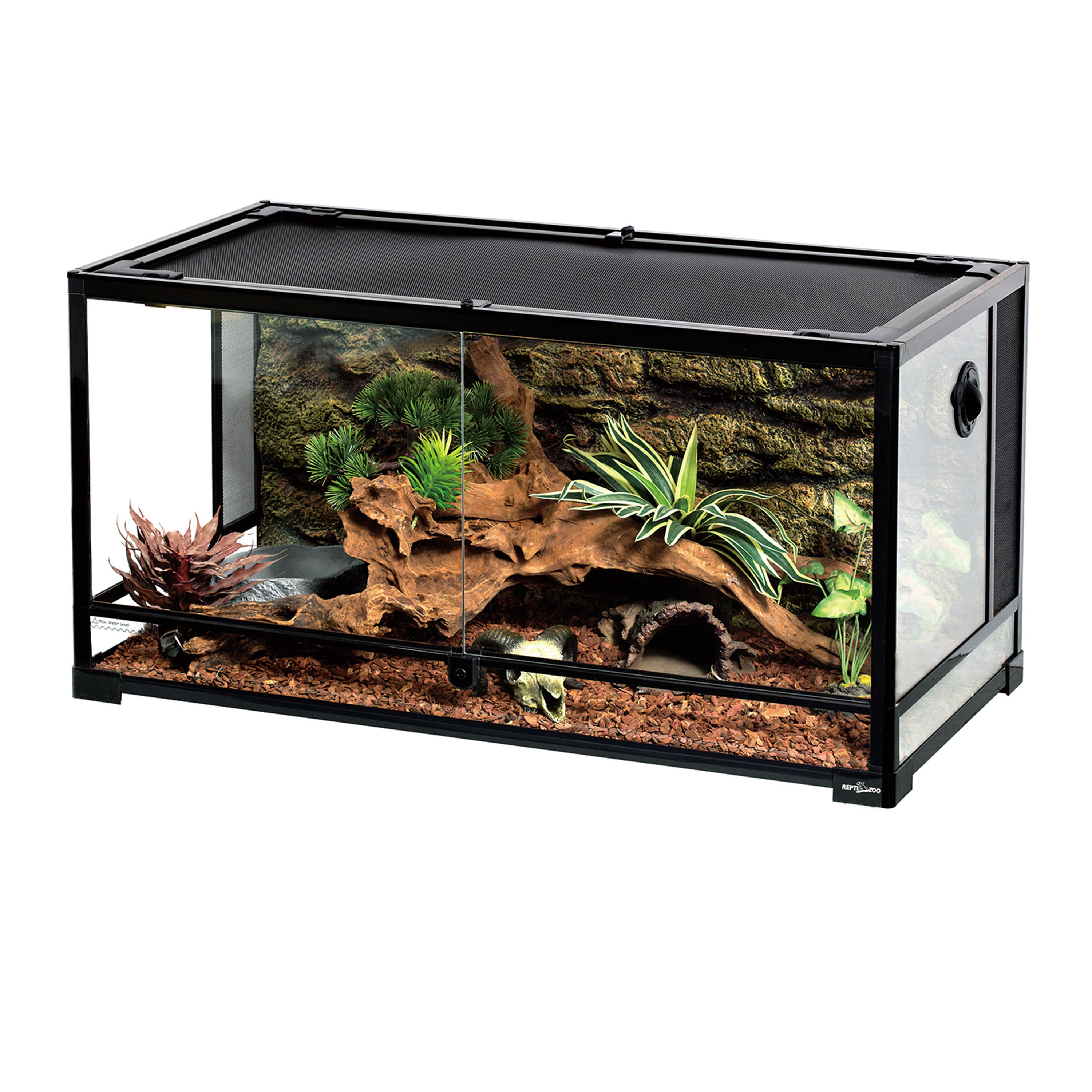 Reptizoo Reptile Glass Terrarium Double Hinge Door With Screen Ventilation Reptile Terrarium 36 X 18 X 18 Walmart Com Walmart Com