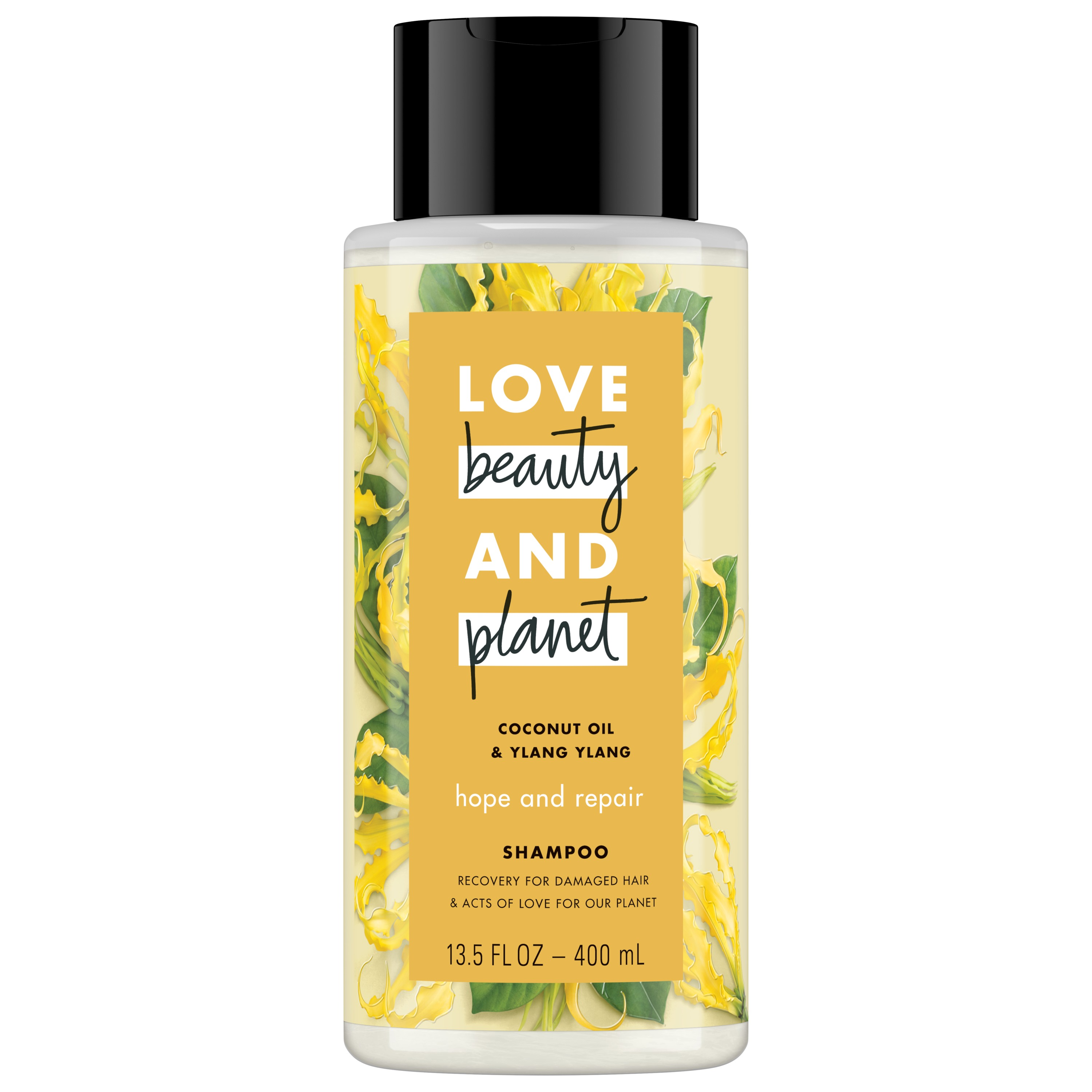 Love Beauty And Planet Hope and Repair Shampoo for Split Ends, Coconut Oil & Ylang Ylang 13.5 oz
