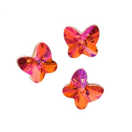Swarovski Crystal, #4748 Rivoli Butterfly Fancy Stones 5mm, 6 Pieces, Crystal Astral Pink (Hot Pink Swarovski Crystals)