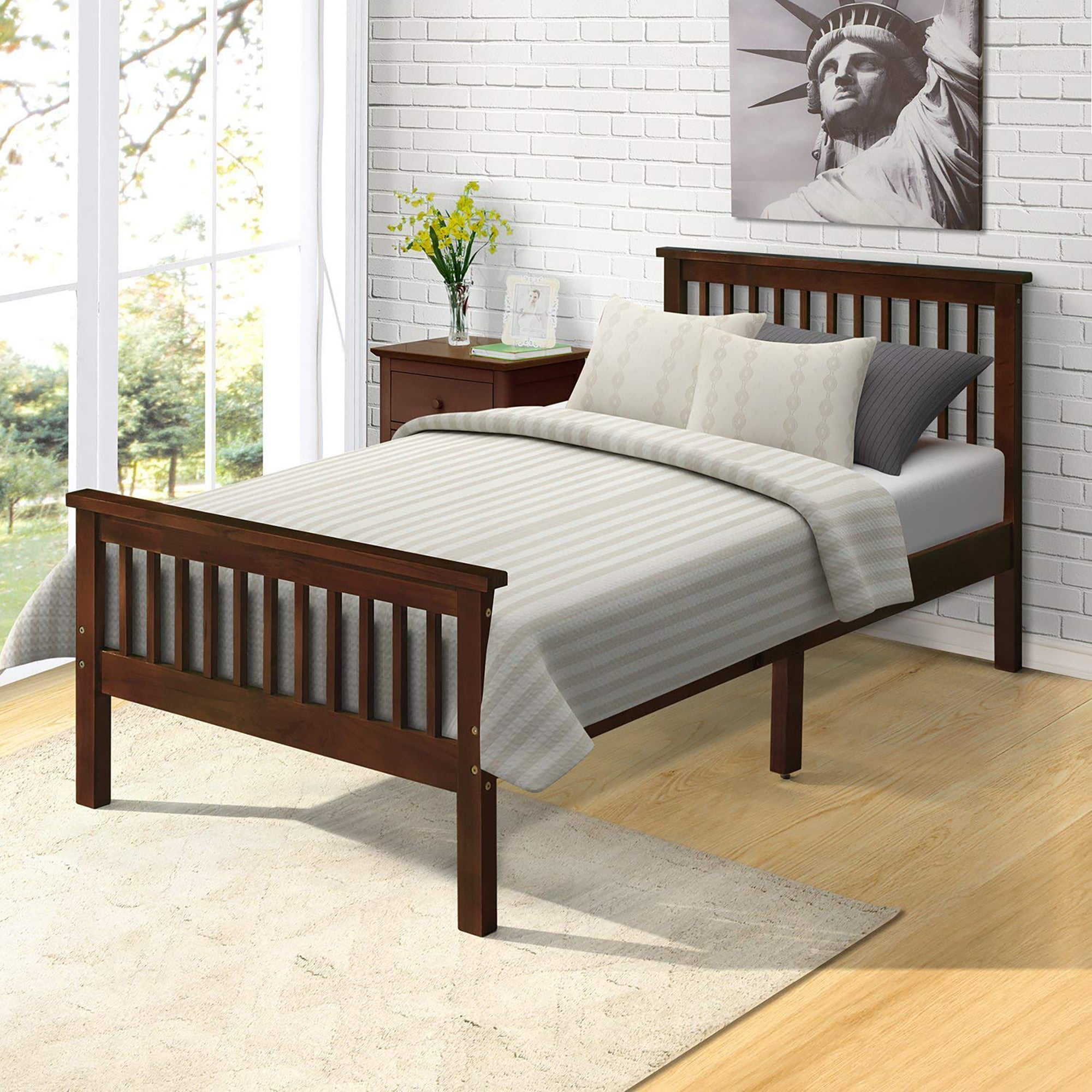 Platform Bed Frame Kids Bed with Headboard and Footboard ...