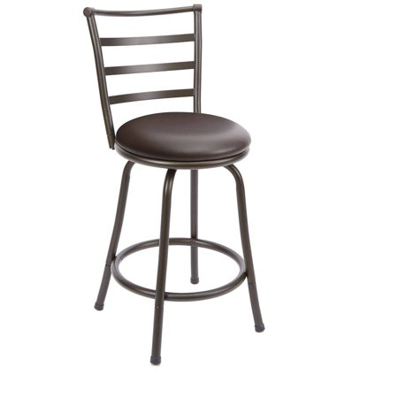 Phenomenal Mainstays Metal Swivel Counter Stool 24 Set Of 3 Black Walmart Com Unemploymentrelief Wooden Chair Designs For Living Room Unemploymentrelieforg