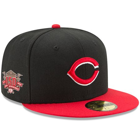 release date: 35919 c39e1 Cincinnati Reds New Era 150th Anniversary Authentic Collection On-Field 59FIFTY  Fitted Hat - Black Red - Walmart.com