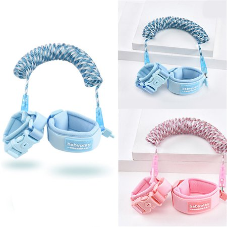 Toddler Harness Anti Lost wristband, Anti Lost Belt Wrist Safe Link Wrist Straps for Babies, Soft Baby Leash Outdoor Safety Hook for Babies Kids Toddlers Runners  Blue (Best Carbs For Runners)