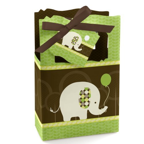 Elephant - Party Favor Boxes - Set of 12