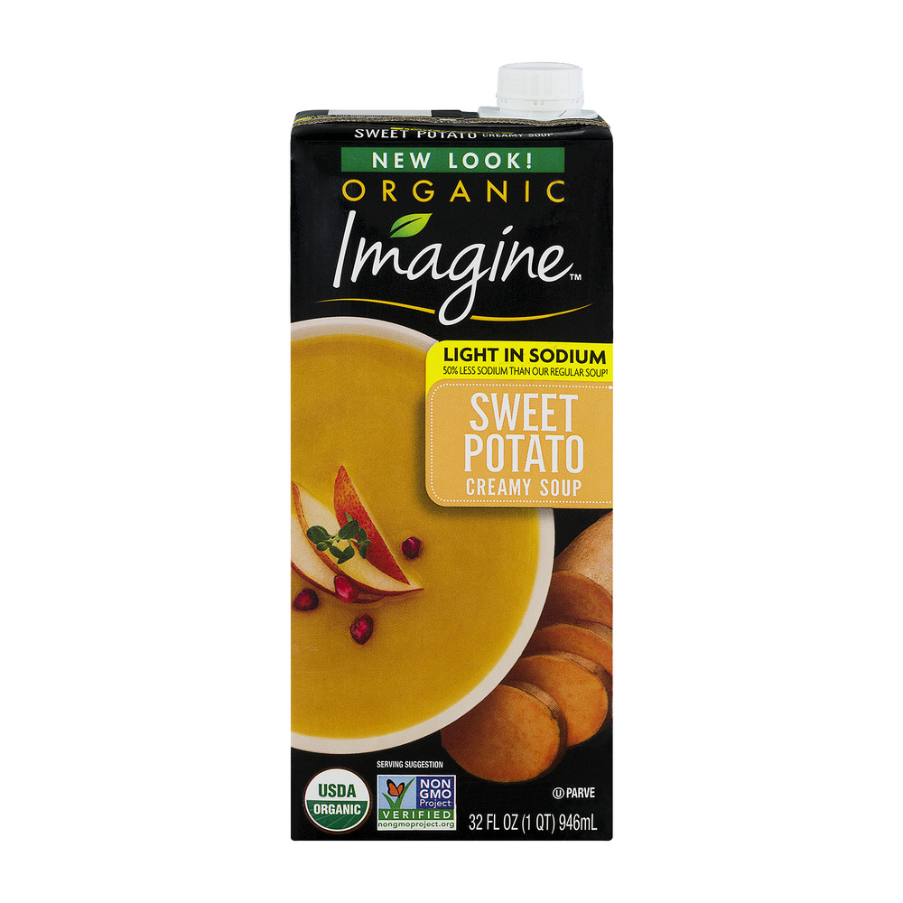 Imagine Organic Light In Sodium Soup Creamy Sweet Potato, 32.0 FL OZ