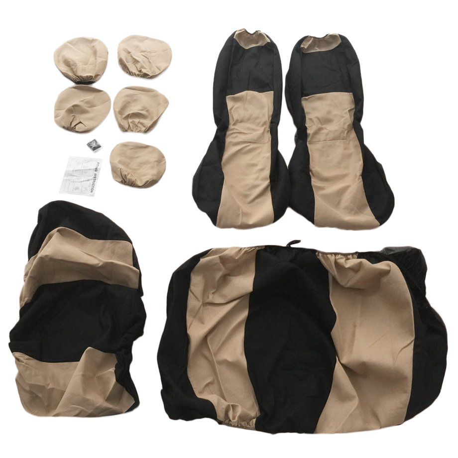 9pcs Car Sponge Seat Cover Car Styling Accessory Universal for Five-Seat Cars