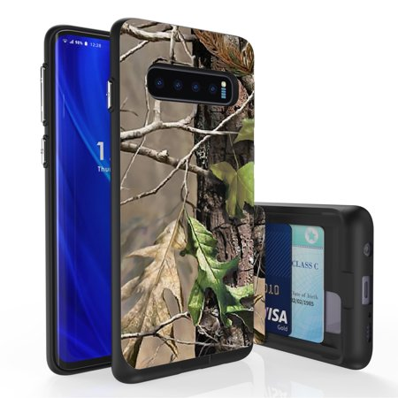 Galaxy S10 Case, PimpCase Slim Wallet Case + Dual Layer Card Holder For Samsung Galaxy S10 [NOT S10e OR S10+] (Released 2019) Hunter Tree Outdoors
