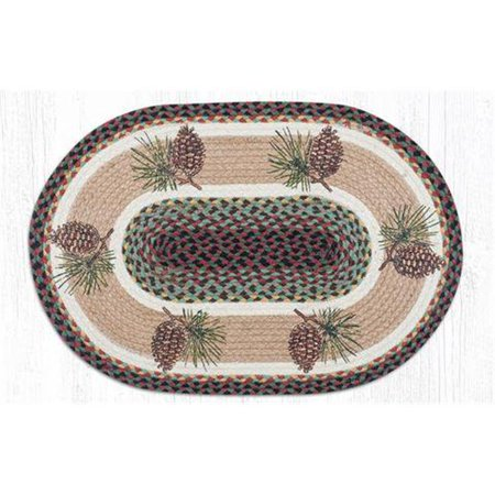 - Capitol Importing 88-28-081P 2 x 8 ft. Jute Oval Pinecone Patch