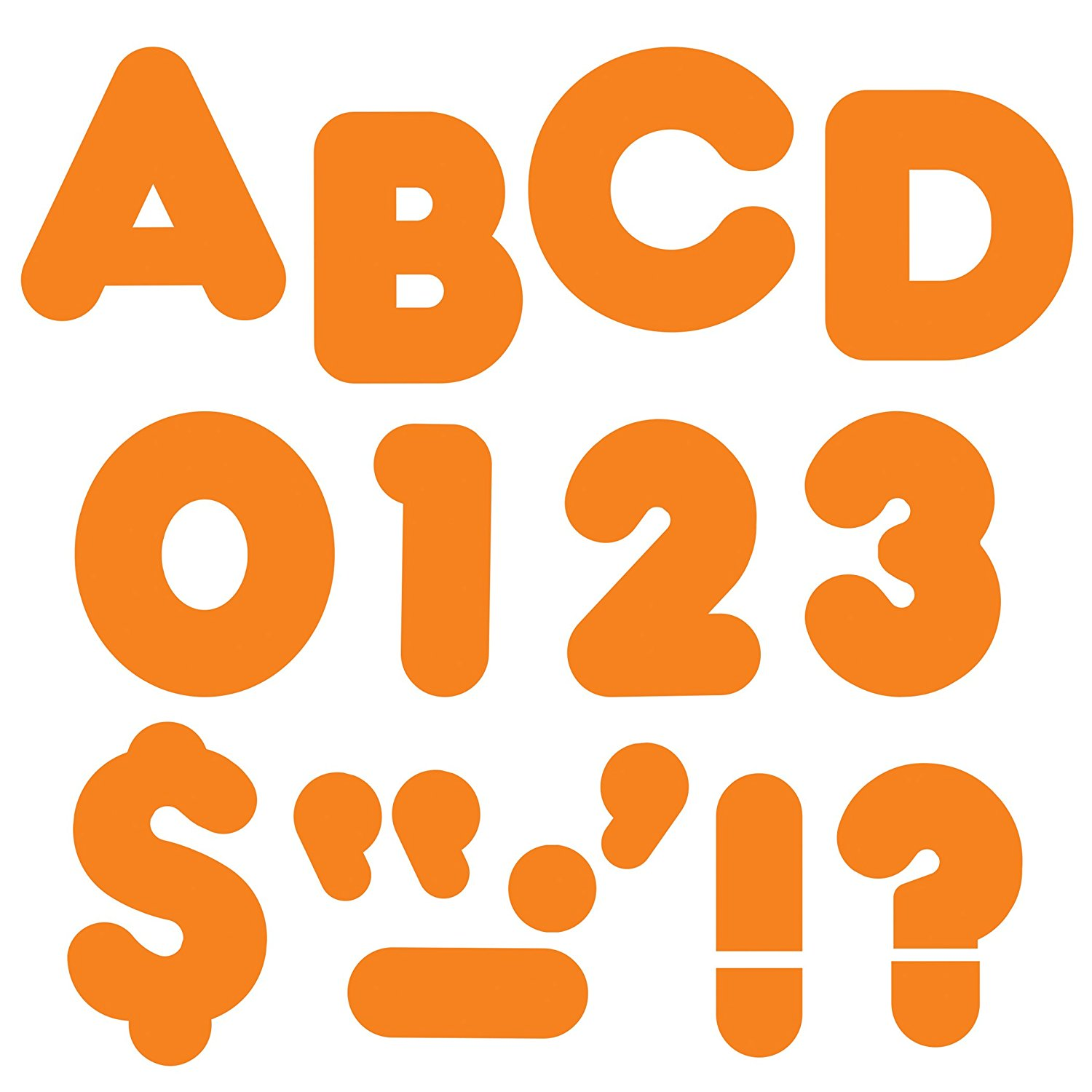 "Casual Ready Letters, 72 per Package, 4"", Orange (T-475), Durable and reusable By Trend Enterprises"