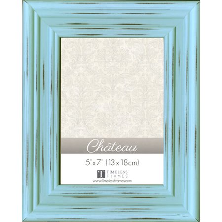 Chateau Distressed Mint Green Painted 5 x 7 Picture Frame (Distressed Green)