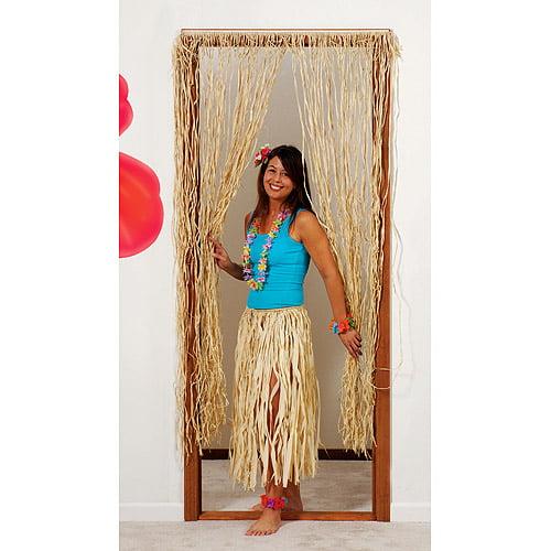 6' Raffia Door Curtain