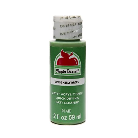 Apple Barrel Matte Finish Kelly Green Acrylic Craft Paint, 2 Fl. Oz. ()