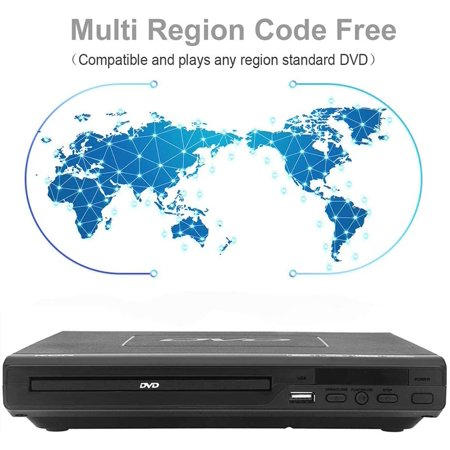 Lonpoo Region Free Dvd Player Support Mic Av Output Cable Included Multi Zone Region Free Pal Ntsc Usb2 0 Port Walmart Canada