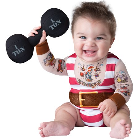 Silly Baby Strongman Infant Halloween Costume, 6-12 Months