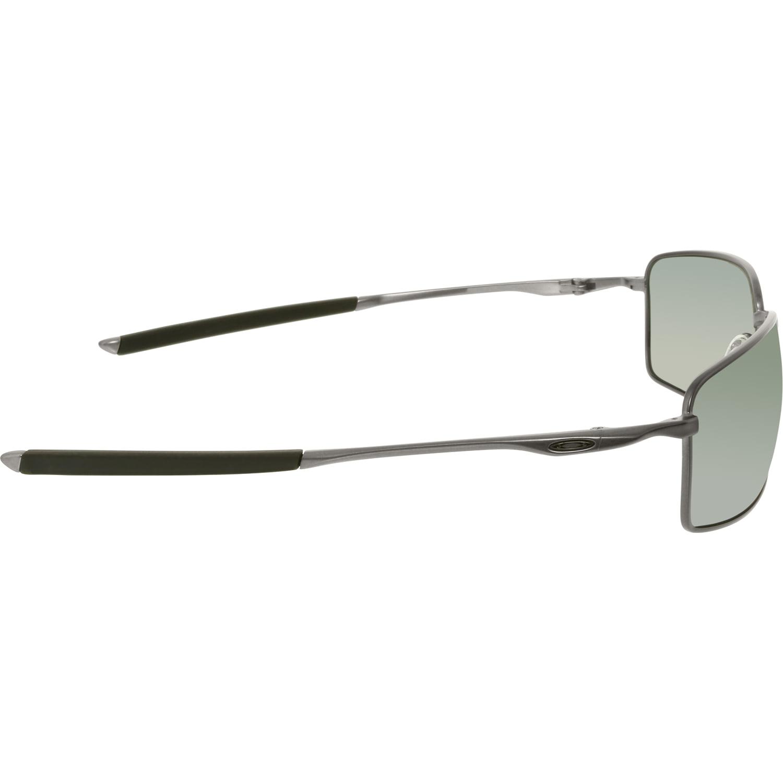 c453fa54763 Oakley Men s Polarized Square Wire OO4075-04 Gunmetal Rectangle Sunglasses