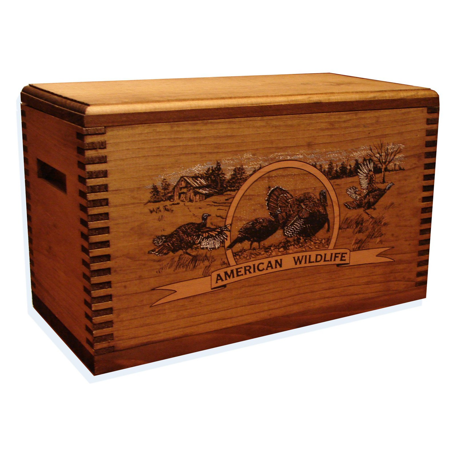 Evans Sports Wooden Accessory Box, Colored Turkey Print
