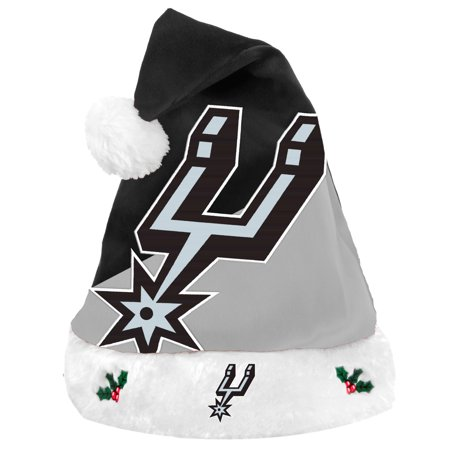 San Antonio Spurs 2018 NBA Basic Logo Plush Christmas Santa Hat - Walmart .com 50112e17d3e