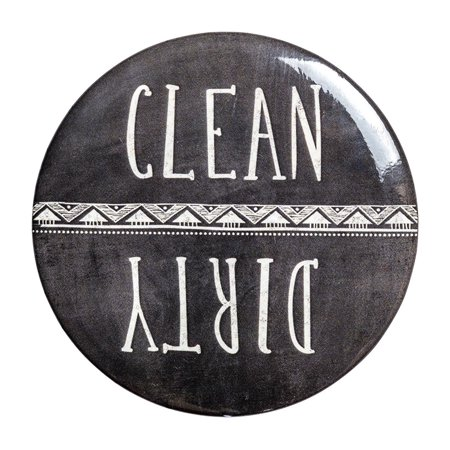 Clean Dirty Dishwasher Magnet (Chalkboard) by Sutter Signs (Clean Sign Dishwasher)