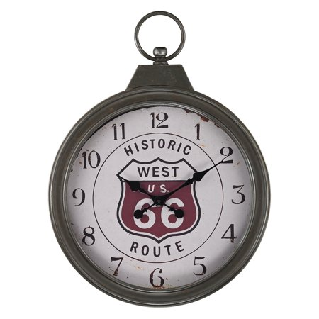 Sterling Fob Style Route 66 Wall Clock