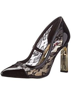 3c10968da70d Product Image Two Lips Womens Angie Patent Lace Inset Pumps
