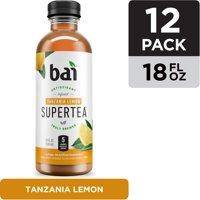 Bai Iced Tea, Tanzania Lemon, Antioxidant Infused Supertea, 18 Fluid Ounce Bottle, 12 count