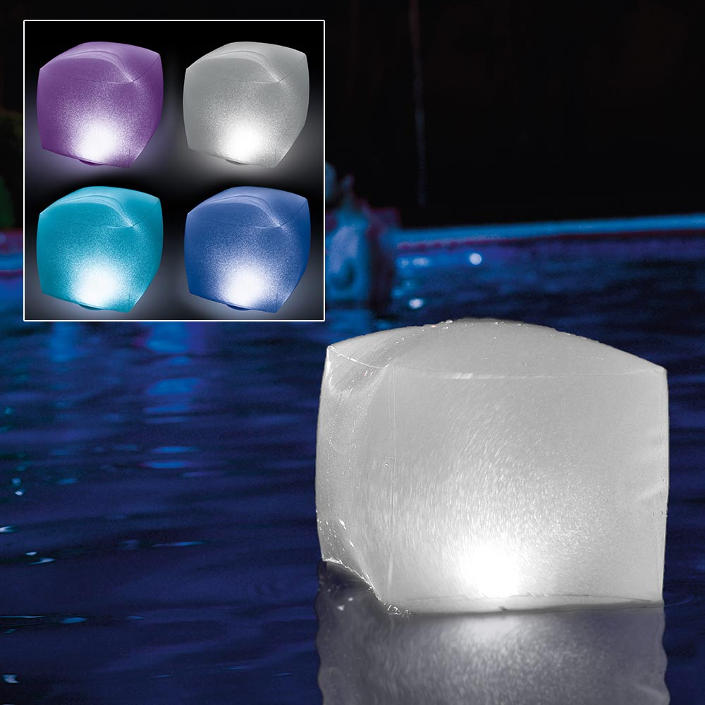 Intex Floating Pool Led Lighting Inflatable Cube Light