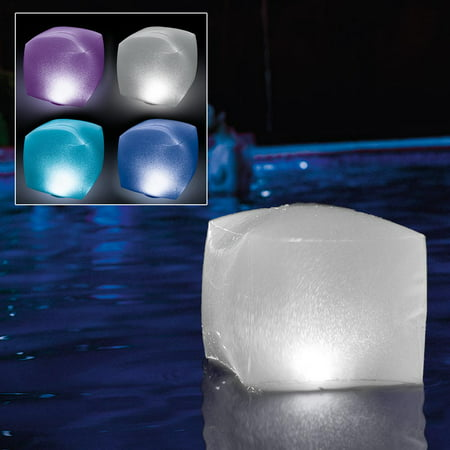 Intex Floating Pool LED Lighting Inflatable Cube Light, Battery Powered