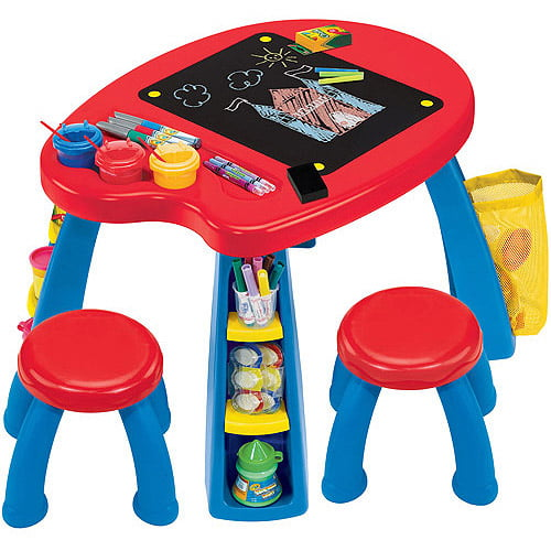 Crayola Creativity Play Station Desk & Chair Set by Grow'n Up