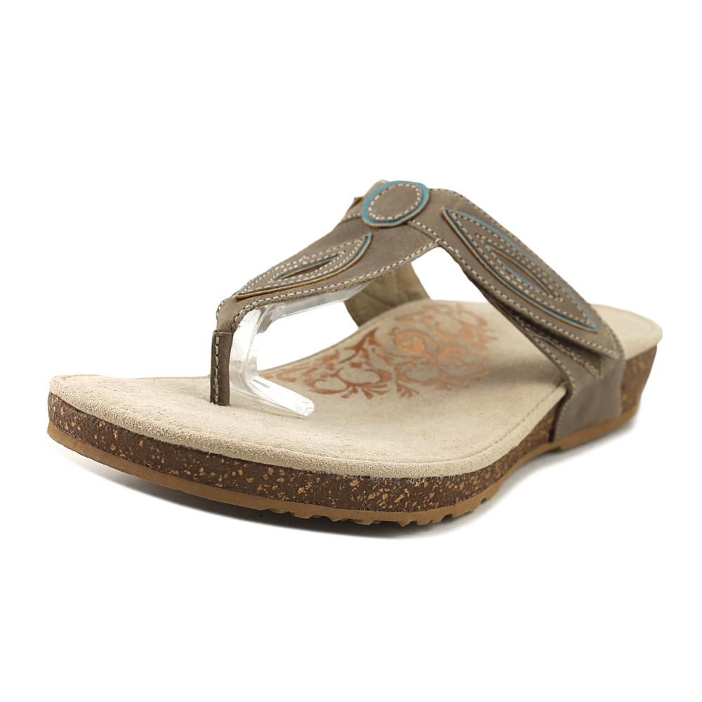 Aetrex Terri Women Open Toe Synthetic Gray Thong Sandal by Aetrex
