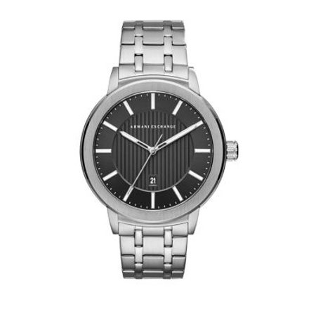 Armani Exchange Men's AX1455 Silver Stainless-Steel Japanese Quartz Dress (Armani Exchange Mens Wear)