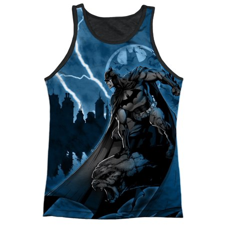 Batman Superhero TV Series Movie Waiting Bat Adult Black Back Tank Top Shirt (Adult Movie Tv)
