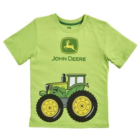 John deere infant boys lime green big tractor t shirt for John deere shirts for kids