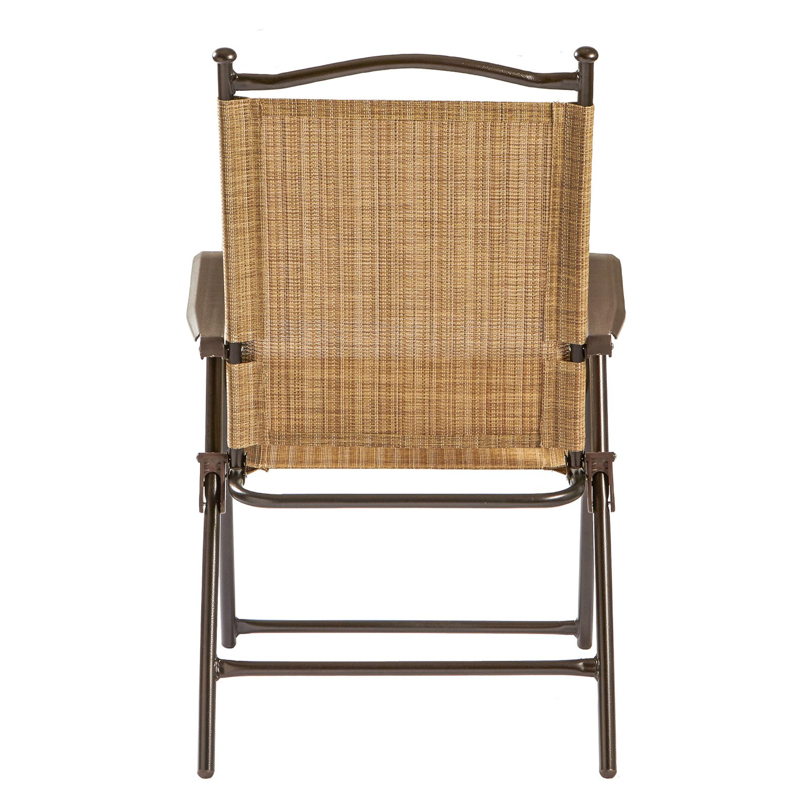 Sling Black Outdoor Chairs, Bamboo, Set of 2 - Walmart.com