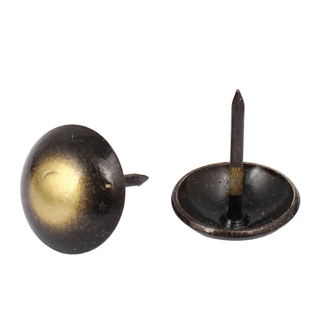 Furniture Iron Round Dome Head Upholstery Tack Push Nail Pushpin 16mm Dia 120pcs