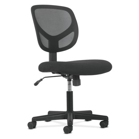 Mid Back Tilter Chair - Sadie Swivel Mid Back Mesh Task Chair without Arms - Ergonomic Computer/Office Chair (HVST101)